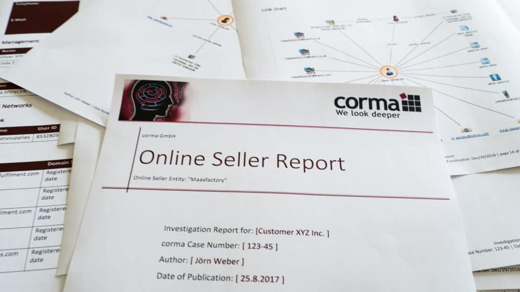 Online Seller Report corma GmbH