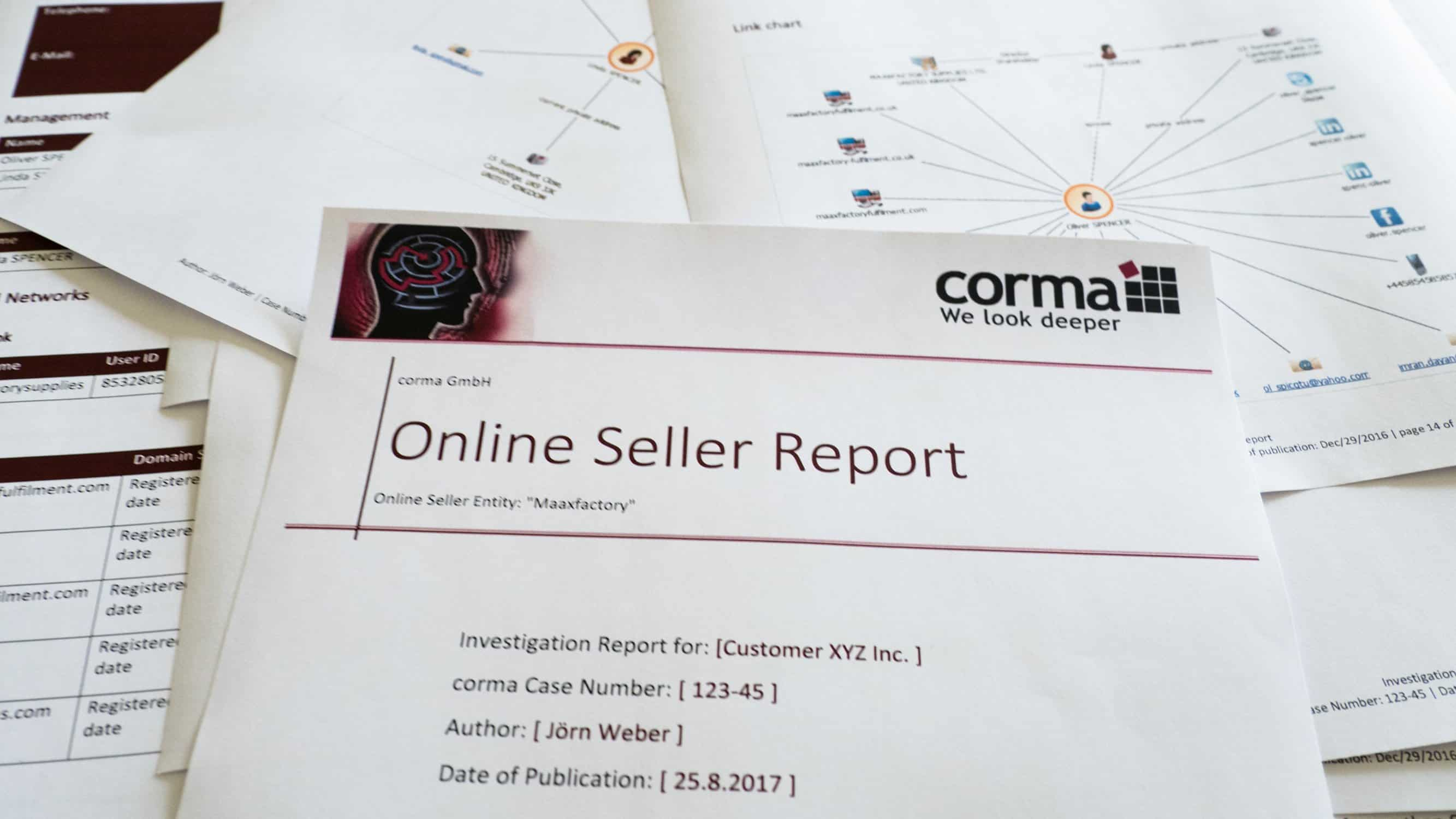 Anti-Counterfeit Online Seller Report