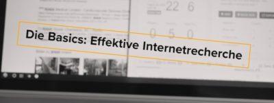 Effektive Internetrecherche