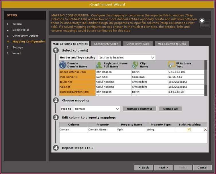 casefile – visualization of information casefile import 2